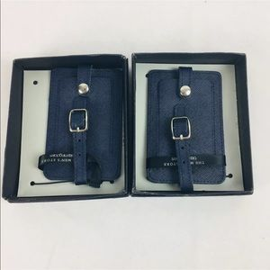 Pair Bloomingdale's Luggage Tags Navy D3-1
